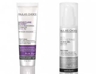 PAULA's CHOICE Exfoliating 2% BHA Lotion & Moisture Boost Daily Restoring Complex
