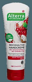 Alterra Naturkosmetik Reichhaltige Handcreme Bio-Granatapfel und Bio-Sheabutter