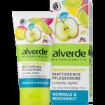 alverde Mattierende Pflegecreme Limette Apfel