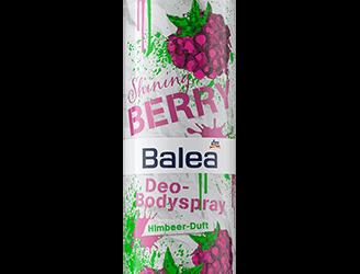 Balea Deo-Spray mit Kiwi-Duft und mit Himbeer-Duft