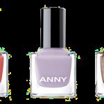 ANNY Nail Polish #329 a part of you, #225 lilac powder & #170 crazy flamingo