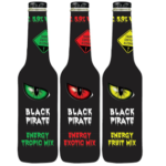 Black Pirate Energy Drink Fruit, Exotic und Tropic