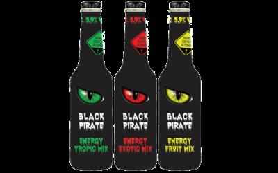 Black Pirate Energy Drink Fruit, Exotic und Tropic