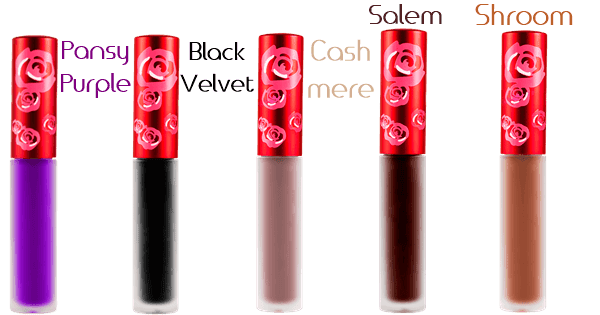 limecrime pansy blackvelvet cashmere salem shroom