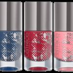CATRICE Retrospective Nail Polish 03 Blue Flashback, C04 Return to REDtro & C05 Retro Rosiness