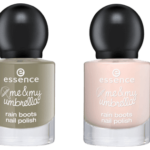 essence me & my umbrella rain boots nail polish 03 take me to the clouds & 04 i have my pocket full of sunshine // NOTD #10