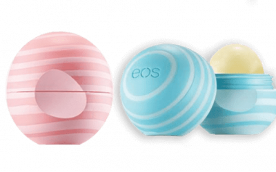 eos Visibly Soft coconut milk & vanilla and mint lip balm