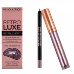 Makeup Revolution Retro Luxe Metallic Lip Kit The Rebellion