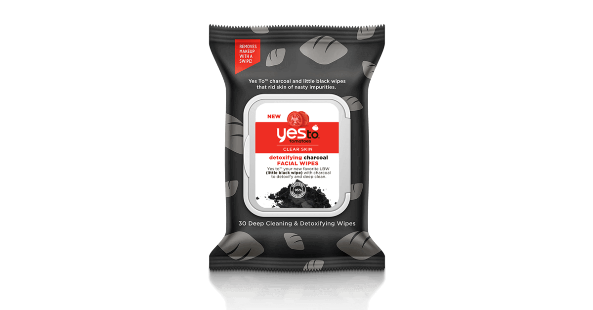 Yes To Tomatoes Detoxifying Charcoal Cleansing Wipes