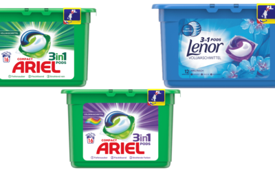 Ariel 3in1 Pods Color/Voll und Lenor 3in1 Pods Aprilfrisch