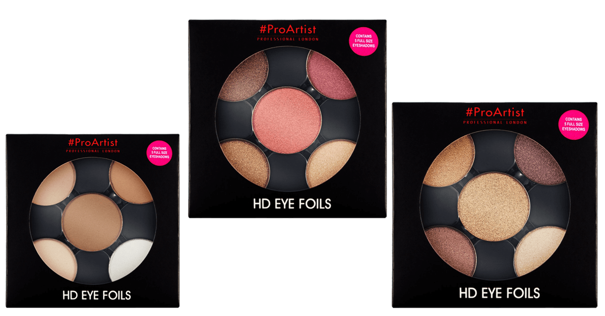 Freedom Makeup #ProArtist Eye Foils HD Burnt, HD Metallics 2, HD Matte Bare und HD Metallics 1