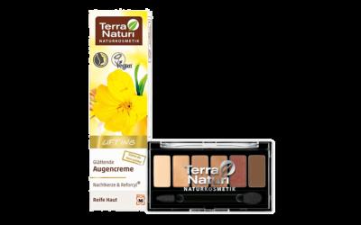Terra Naturi Lifting Glättende Augencreme & Terra Naturi Eyeshadow Palette 04 Brunettes do it better