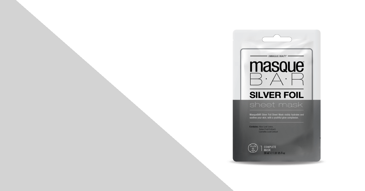 masquebarsheetmasksilverfoil