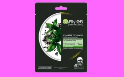Garnier SkinActive Schwarze Tuchmaske mit Bambuskohlenvlies
