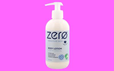 zerø sensitive skin body lotion caring and moisturizing